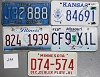 Saturday Special lot # 299, group of 5 mixed old license plates