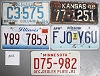 Saturday Special lot # 302, group of 5 mixed old license plates