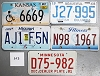 Saturday Special lot # 303, group of 5 mixed old license plates