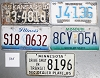 Saturday Special lot # 305, group of 5 mixed old license plates