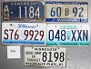 Saturday Special lot # 306, group of 5 mixed old license plates