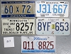 Saturday Special lot # 307, group of 5 mixed old license plates