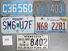 Saturday Special lot # 308, group of 5 mixed old license plates