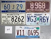 Saturday Special lot # 309, group of 5 mixed old license plates