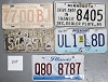 Saturday Special lot # 310, group of 5 mixed old license plates