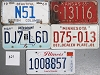 Saturday Special lot # 321, group of 5 mixed old license plates