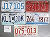 Saturday Special lot # 322, group of 5 mixed old license plates
