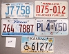 Saturday Special lot # 325, group of 5 mixed old license plates