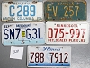 Saturday Special lot # 328, group of 5 mixed old license plates