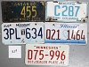 Saturday Special lot # 329, group of 5 mixed old license plates