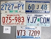 Saturday Special lot # 330, group of 5 mixed old license plates