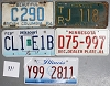 Saturday Special lot # 331, group of 5 mixed old license plates