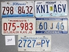 Saturday Special lot # 332, group of 5 mixed old license plates