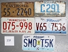 Saturday Special lot # 335, group of 5 mixed old license plates