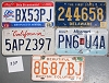 Saturday Special lot # 339, group of 5 mixed old license plates