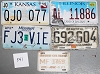 Saturday Special lot # 341, group of 5 mixed old license plates