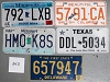 Saturday Special lot # 342, group of 5 mixed old license plates