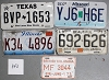 Saturday Special lot # 343, group of 5 mixed old license plates
