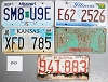 Saturday Special lot # 345, group of 5 mixed old license plates