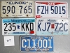 Saturday Special lot # 347, group of 5 mixed old license plates