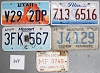 Saturday Special lot # 349, group of 5 mixed old license plates