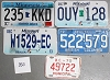 Saturday Special lot # 350, group of 5 mixed old license plates