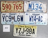 Saturday Special lot # 354, group of 5 mixed old license plates