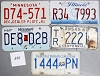 Saturday Special lot # 355, group of 5 mixed old license plates