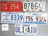 Saturday Special lot # 357, group of 5 mixed old license plates