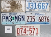 Saturday Special lot # 358, group of 5 mixed old license plates