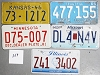 Saturday Special lot # 359, group of 5 mixed old license plates