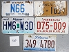 Saturday Special lot # 360, group of 5 mixed old license plates