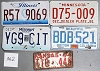 Saturday Special lot # 362, group of 5 mixed old license plates