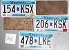 Saturday Special lot # 363, group of 5 mixed old license plates