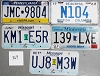 Saturday Special lot # 369, group of 5 mixed old license plates