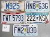 Saturday Special lot # 370, group of 5 mixed old license plates
