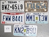 Saturday Special lot # 373, group of 5 mixed old license plates