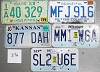 Saturday Special lot # 376, group of 5 mixed old license plates
