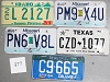 Saturday Special lot # 377, group of 5 mixed old license plates