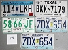 Saturday Special lot # 378, group of 5 mixed old license plates