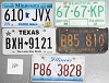 Saturday Special lot # 380, group of 5 mixed old license plates