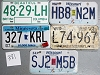 Saturday Special lot # 381, group of 5 mixed old license plates