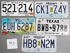 Saturday Special lot # 383, group of 5 mixed old license plates