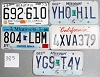 Saturday Special lot # 385, group of 5 mixed old license plates