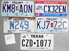 Saturday Special lot # 387, group of 5 mixed old license plates