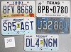 Saturday Special lot # 388, group of 5 mixed old license plates