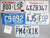Saturday Special lot # 394, group of 5 mixed old license plates