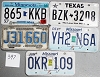 Saturday Special lot # 397, group of 5 mixed old license plates