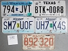 Saturday Special lot # 398, group of 5 mixed old license plates