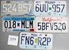 Saturday Special lot # 399, group of 5 mixed old license plates
